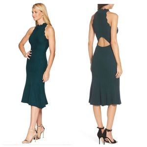 ADELYN Rae green scallop Dress